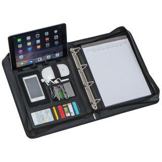 A4 Ringbuchtasche / Ringbuchmappe mit Fächern und Smartphonehalterung – Bild 4