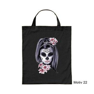 creativgravur® Halloweenbeutel Tasche mit kurzem Henkel für Süßes oder Saures  - verschiedene Motiven bedruckt – Bild 8