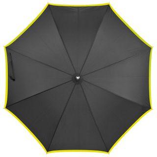 Regenschirm aus Pongee, Automatik - schwarz/grün – Bild 2