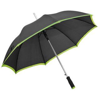 Regenschirm aus Pongee, Automatik - schwarz/grün – Bild 1