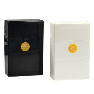 1 x Zigarettenbox Kunststoff  schwarz oder weiss