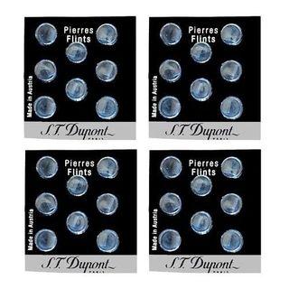 4 x Dupont Feuersteine, Flints, Pierres - Grau , 32 Stk