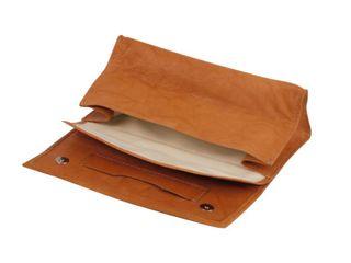 Tabakstellbeutel Kalbsleder braun antik 15cm – Bild 1