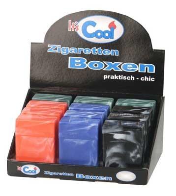 1 x Kunststoff Zigarettenbox mit Steg