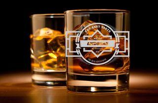 Whiskyglas mit Gravur - Personalisiert mit Namen und Jahreszahl - verschiedene Motive zur Auswahl – Bild 1