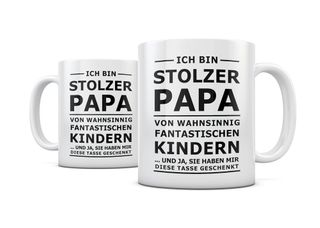 creativgravur® Tasse mit Spruch STOLZER PAPA, STOLZE MAMA Kaffeetasse Kaffeebecher Kaffeepot Frühstückstasse Bürotasse – Bild 3