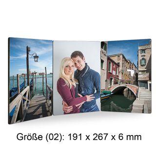 """ChromaLuxe Fotopaneel """"TRIO"""" - verschiedene Größen - mit individuellem Fotodruck – Bild 2"""