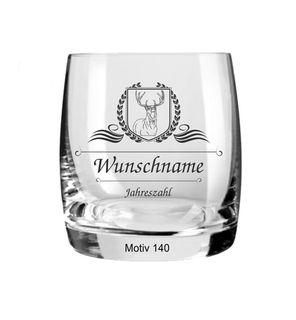 Exklusives Whiskyglas mit kostenloser Namensgravur sowie Gravur des Jahrgang, Geburtsdatum oder Jahrestag auf einem Bohemia Cristal Glas der Extraklasse – Bild 6