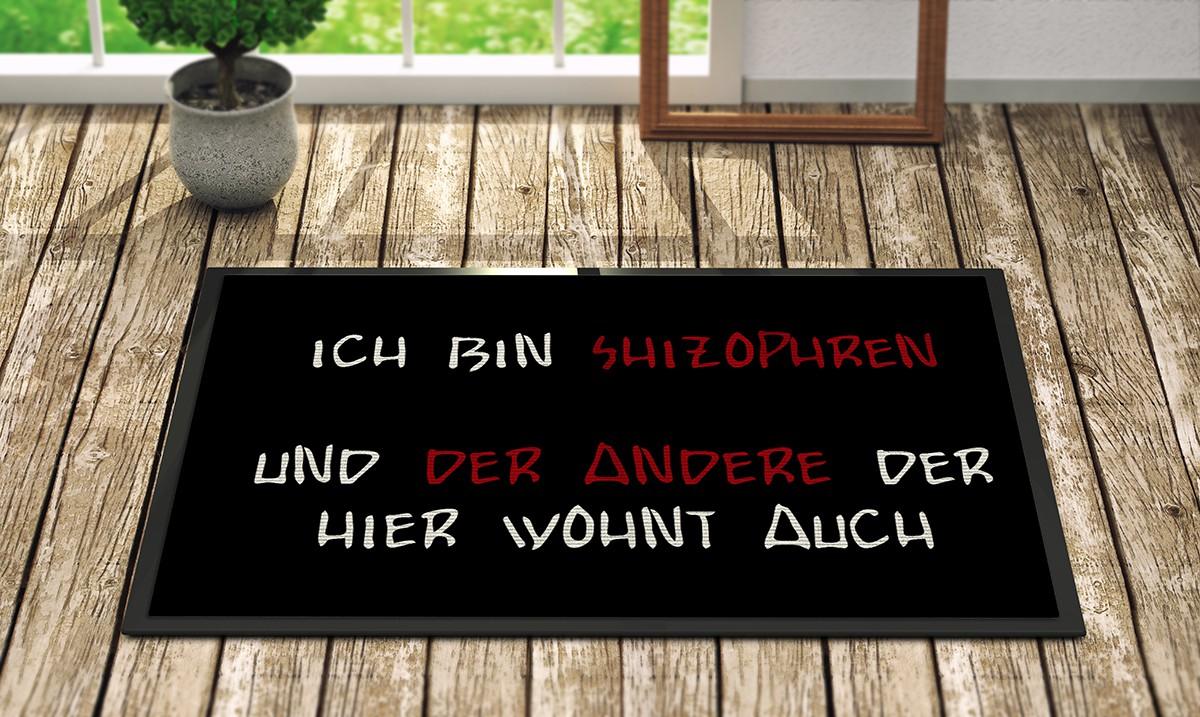 Fußmatte Mit Spruch : bedruckte fun fu matte mit spruch ich bin shizophren ~ Watch28wear.com Haus und Dekorationen