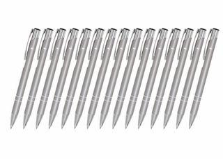 Creativgravur 15 Metall-Kugelschreiber-Set Magic, ein Gratis Brieföffner, Blaue Großraummine – Bild 5