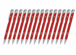 Creativgravur 15 Metall-Kugelschreiber-Set Magic, ein Gratis Brieföffner, Blaue Großraummine – Bild 7