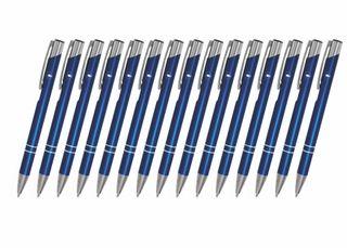 Creativgravur 15 Metall-Kugelschreiber-Set Magic, ein Gratis Brieföffner, Blaue Großraummine – Bild 11