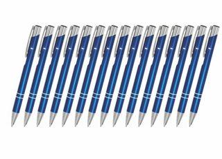 Creativgravur 15 Metall-Kugelschreiber-Set Magic, ein Gratis Brieföffner, Blaue Großraummine – Bild 12