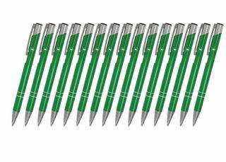 Creativgravur 15 Metall-Kugelschreiber-Set Magic, ein Gratis Brieföffner, Blaue Großraummine – Bild 19
