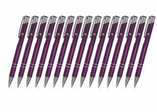 Creativgravur 15 Metall-Kugelschreiber-Set Magic, ein Gratis Brieföffner, Blaue Großraummine – Bild 20