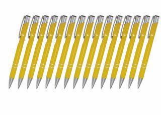 Creativgravur 15 Metall-Kugelschreiber-Set Magic, ein Gratis Brieföffner, Blaue Großraummine – Bild 23