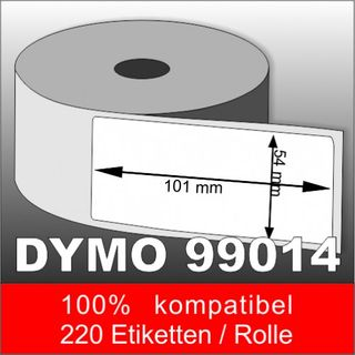 10 x Dymo Label 99014 54 x 101 mm - 2200 komptible Etiketten