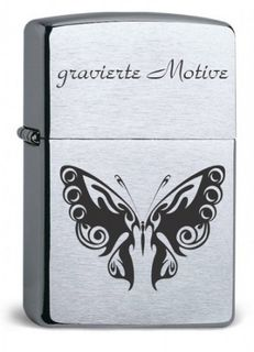 ZIPPO Original Armor Case CHROME BRUSHED, Lasergravur – Bild 1