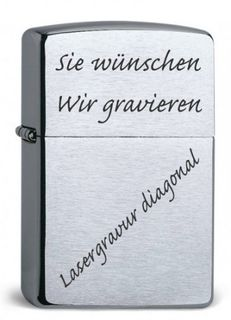 ZIPPO Original Armor Case CHROME BRUSHED, Lasergravur – Bild 2