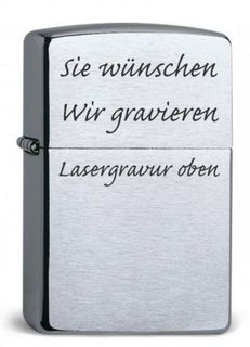 ZIPPO Original Armor Case CHROME BRUSHED, Lasergravur – Bild 4