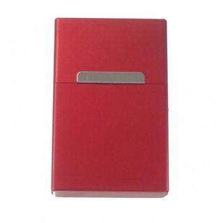Zigarettenbox Zigarettenetui Alu Rot Edel mit Magnetverschluß wahlweise mit Gravur – Bild 1