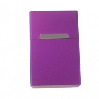 Zigarettenbox Zigarettenetui Alu Violett Edel mit Magnetverschluß – Bild 1