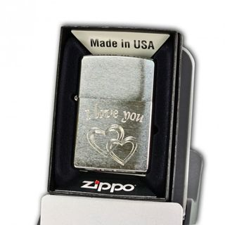 "Zippo Chrome Brushed mit Diamantgravur ""I love you"""