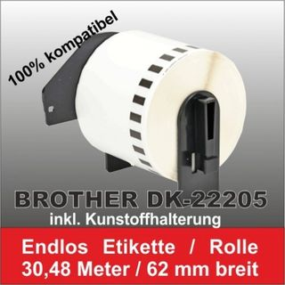 Kompatible DK-22205 Brother Etiketten 62mm x 30.48 Meter – Bild 2