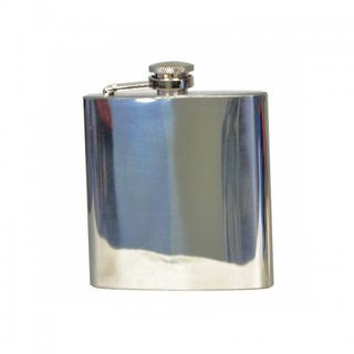 Flachmann High Polished Hochglanzpoliert 6oZ