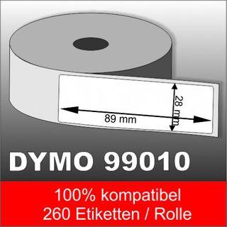 Dymo Label 99010 28 x 89 mm 260 Etiketten 100% kompatibel