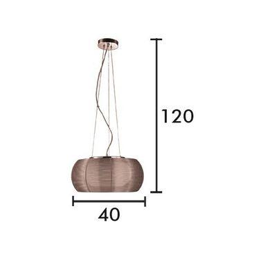 LED Pendelleuchte Design Johanna - Ø 40cm - kaffeebraun – Bild 3