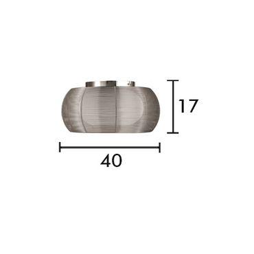 LED Deckenleuchte Design Amin - Ø 40cm - silber – Bild 9