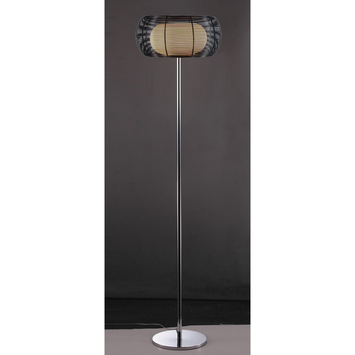 led stehlampe design francise h 160cm schwarz. Black Bedroom Furniture Sets. Home Design Ideas