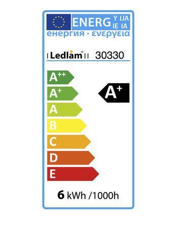 LED Pendelleuchte modern Design Loft - Ø 15cm - weiss / aluminium – Bild 5