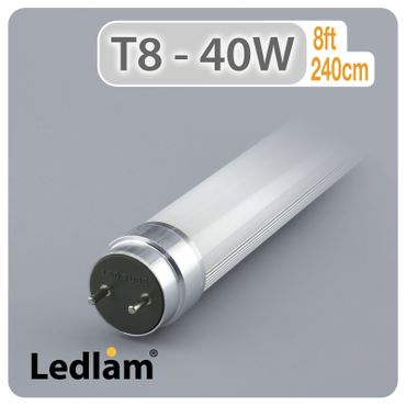 LED T8 240cm 40 Watt inklusive LED Starter – Bild 1
