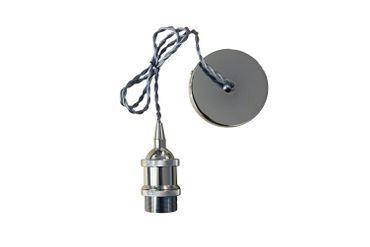 LED Pendelleuchte Vintage stylisch Filament Ø 6cm - chrom – Bild 2