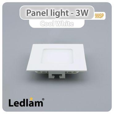 LED Einbauleuchte weiß 3 Watt quadratisch 8,5x8,5cm tageslichtweiß
