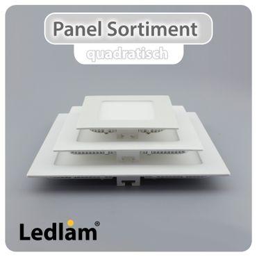LED Einbauleuchte weiß 3 Watt quadratisch 8,5x8,5cm neutralweiß – Bild 6