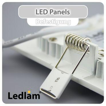 LED Einbauleuchte weiß 3 Watt rund 8,5cm warmweiß – Bild 4