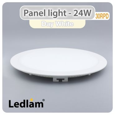 LED Einbauleuchte weiß 24 Watt rund 30cm neutralweiß – Bild 1