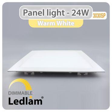 LED Einbauleuchte weiß 24 Watt quadratisch 30x30cm warmweiß - dimmbar mit LED Dimmer – Bild 1