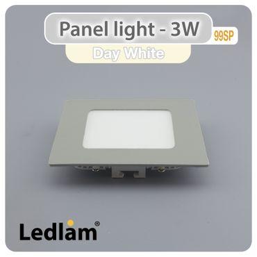 LED Panel 3 Watt quadratisch 8,5x8,5cm neutralweiß - silber