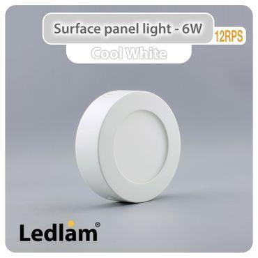 LED Deckenleuchte weiß 6 Watt rund 12cm - tageslichtweiß – Bild 1