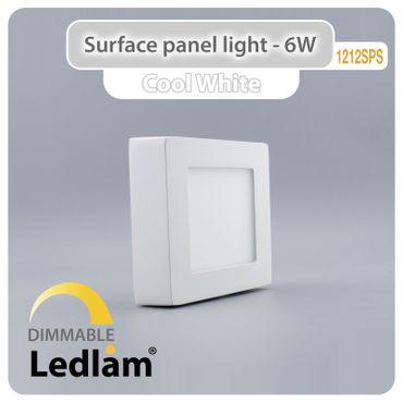 LED Deckenleuchte weiß 6 Watt quadratisch  12x12cm - tageslichtweiß - dimmbar mit LED Dimmer