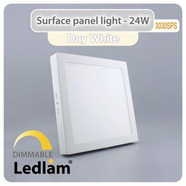 LED Deckenleuchte weiß 24 Watt quadratisch 30x30cm - neutralweiß - dimmbar mit LED Dimmer