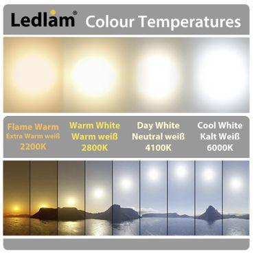 LED Aufbauleuchte 6 Watt rund 12cm - tageslichtweiß - silber – Bild 4
