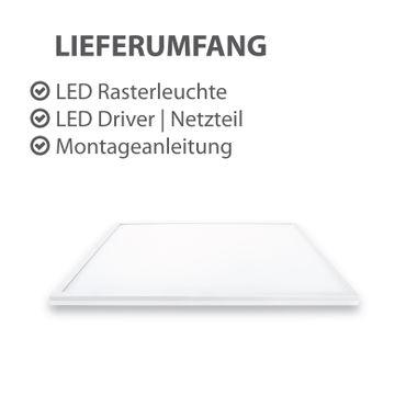 LED Panel Einbauleuchte 40 Watt quadratisch 60x60cm weiß - tageslichtweiß – Bild 3
