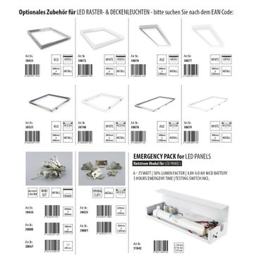 LED Einbauleuchte 29W rechteckig 30x120 Rahmenfarbe weiß - neutralweiß – Bild 4
