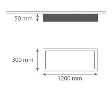 LED Deckenleuchte 29W rechteckig 30x120 Rahmenfarbe weiß - tageslichtweiß – Bild 2