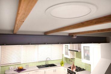 LED Deckenleuchte 29W rechteckig 30x120 Rahmenfarbe weiß - neutralweiß - dimmbar mit LED Dimmer – Bild 8